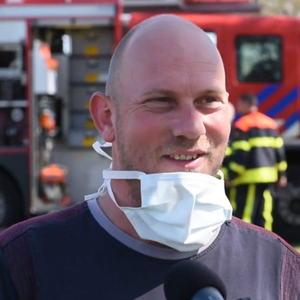 Dave Verschuren (glazenwasser): bedacht zich niet en redde ouderen tijdens een brand in verzorgingscentrum